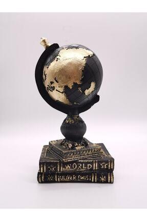 Arthome Dekoratif Ev/ofis Siyah Dünya Biblo