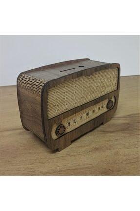 yenihayatdekorasyon Rustik Ahşap Radyo Kumbara
