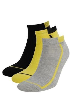 DeFacto Erkek Çok Renkli 3'Lü Patik Çorap T7184AZ21AUKR