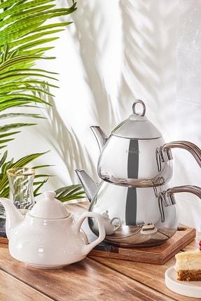 Karaca Porselen Demlik Hediyeli Çaydanlık Takımı