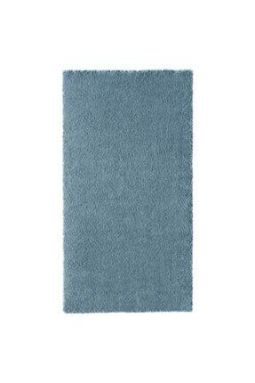 IKEA Halı 80x150 Cm Meridyendukkan Mavi Renk- Parlak Tüyler Yıkanmaz Modern Halı