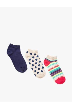Koton Kisa Desenli Çorap Seti 3'lü Pamuklu