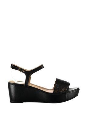 İnci Hakiki Deri Siyah Kadın Dolgu Topuk Ayakkabı 120130001274