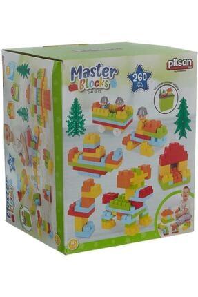 PİLSAN Aksesuarlı Master Bloklar 256 Parça Eğitici Bloklar 03573 Fsp