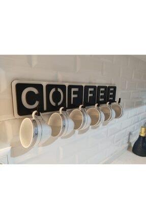 Ankebut Ahşap Coffee Yazılı Mutfak Fincan Ve Kupa Askılığı 46 Cm * 9 Cm