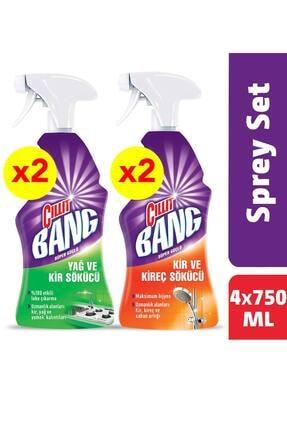 Cillit Bang Banyo ve Mutfak Temizleyici Yağ Çözücü & Kireç Sökücü 2'li Sprey Set x 2 Adet