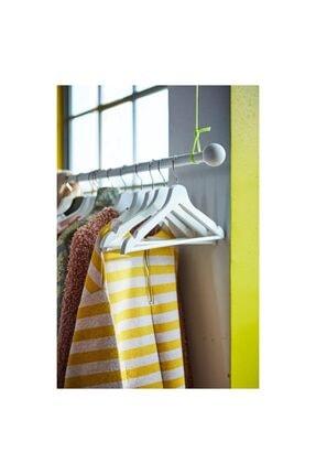 IKEA Bumerang Ahşap Kıyafet, Elbise, Beyaz Giysi Askısı