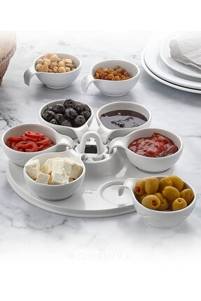 HOMENIVA Kahvaltılık Ve Sosluk Melamin 6'lı