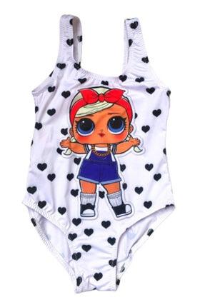 Solliente Kız Çocuk Lol Bebek Kalpli Mayo