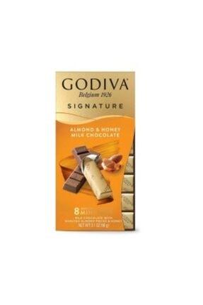 Godiva Mini Bars Ballı Bademli Sütlü (8 Adet Stick Çikolata)