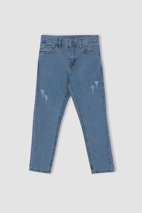 DeFacto Erkek Çocuk Slim Fit Yıpratma Detaylı Jean Pantolon