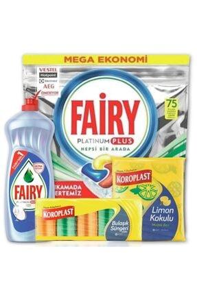 Fairy Platinum Plus 75li Bulaşık Makinesi Tableti & Platinum Hijyen 750 ml Sıvı Bulaşık Deterjanı