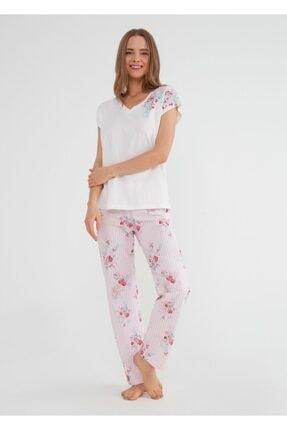 SUWEN Kadın Pembe Martina Pijama Takımı