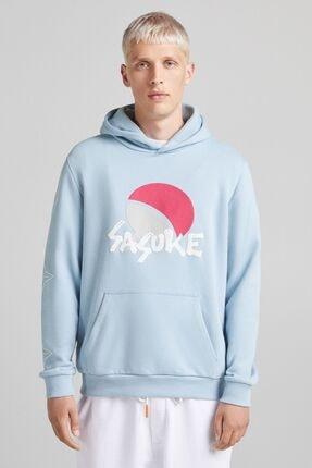 Bershka Naruto Baskılı Kapüşonlu Sweatshirt