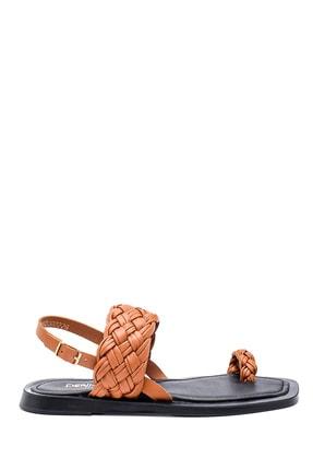 Derimod Kadın Deri Örgülü Sandalet