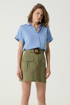 Network Kadın Regular Fit Mavi Gömlek 1078893