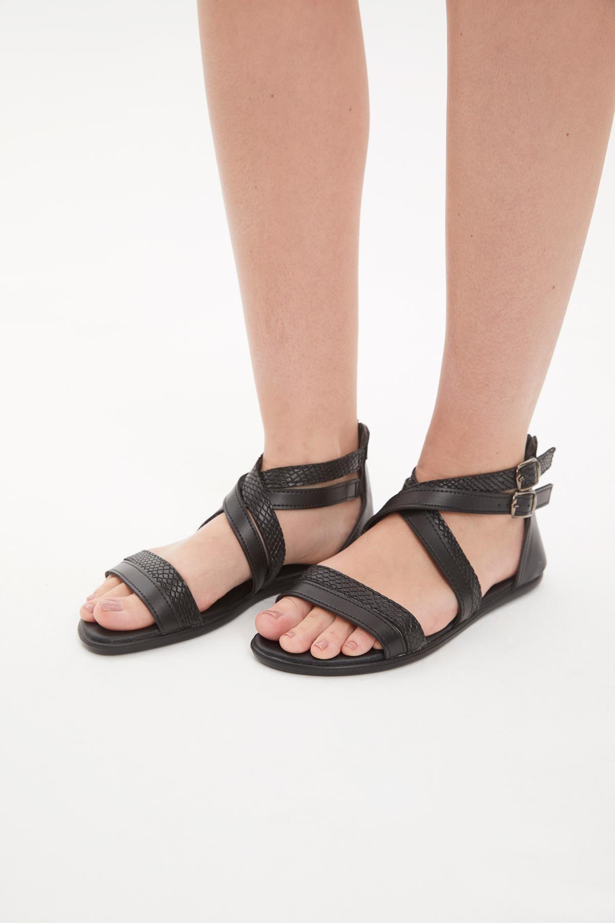 DeFacto Suni Deri Sandalet