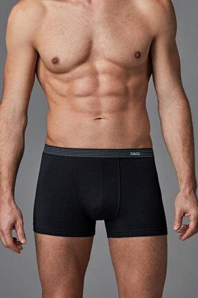 Dagi Siyah Penye Compact Düz Erkek Boxer