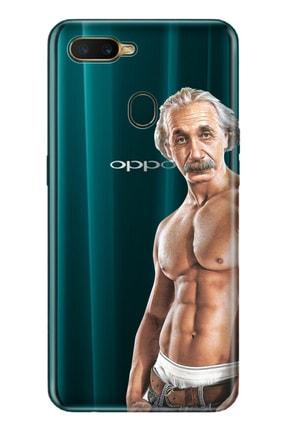 Oppo Ax7 Uyumlu Pure Modern Desenli Silikon Kılıf Einstein Baba