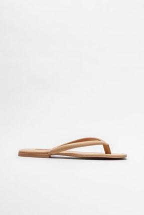 Elle Shoes Naturel Kadın Parmakarası Terlik