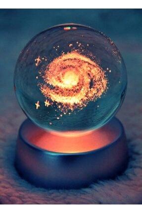 thekilig 3d Samanyolu Galaksi Işıklı Cam Küre - Çok Renkli Dekoratif Aydınlatma Küre - 1 Adet