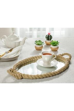 English Home Rope Tepsi 25 Cm Kahverengi
