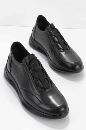 Bambi Siyah Hakiki Deri Erkek Casual Ayakkabı E01556002603