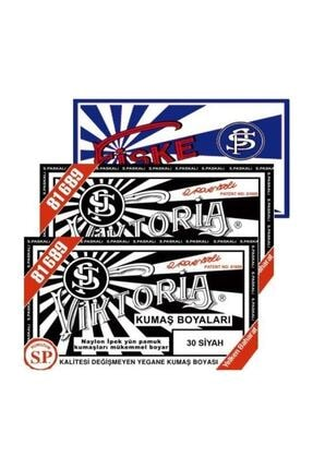 Viktoria Boya Kumaş Boyası Siyah 2 paket+fiske Sabitleme 1paket