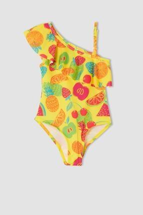 DeFacto Kız Bebek Esnek Dokulu Meyve Desenli Mayo