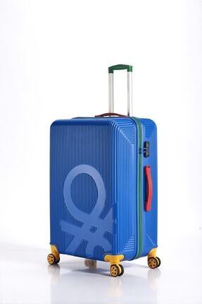 Benetton Mavi  Büyük Boy Valiz