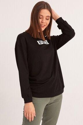 Fulla Moda Yazı Baskılı Sweatshirt