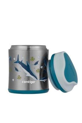 Contigo Paslanmaz Çelik Vakumlu Yemek Kabı Köpek Balığı 300ml