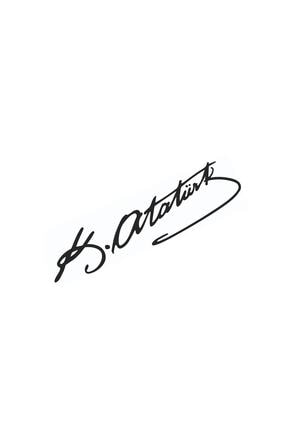 Dijitonline Mustafa Kemal Atatürk Imza – Araba Sticker - Oto Sticker - 20cm