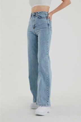 Ramrod Julia 90's Kar Yıkama Mavi Likralı Süper Yüksek Bel Salaş Jean Pantolon