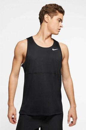 Nike Breathe Dri-fit Run Tank Nefes Alan Siyah Spor Atlet