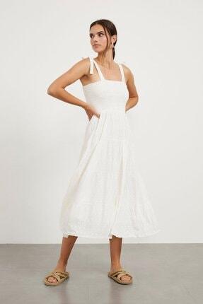 Arma Life Ip Askı Bağlamalı Gipelili Brode Elbise