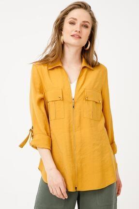 Ekol Kadın Sarı Fermuarlı Tunik