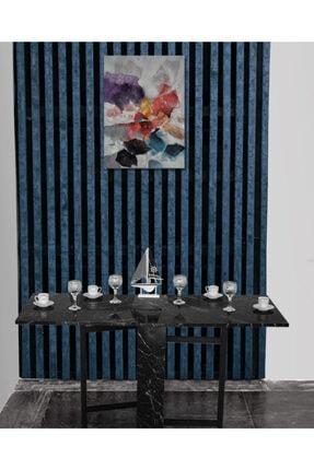 N Süper Portatif Katlanır Taşınabilir Yemek Masası En Super Açılır Kapanır Masa Siyah Mermer