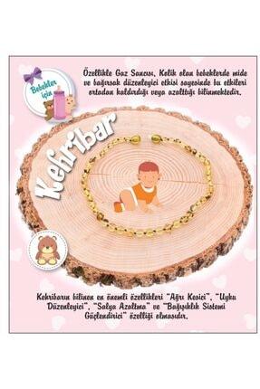 OSMANLI DOĞAL TAŞ Doğal Taş Bebek Kolye - Kehribar