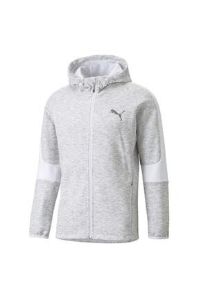 Puma Evostripe Fz Hoodie Erkek Beyaz Günlük Stil Sweatshirt 58942402