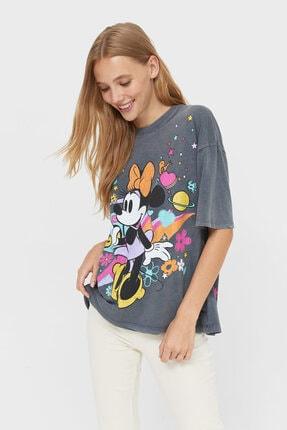 Stradivarius Oversize Disney Baskılı T-shirt
