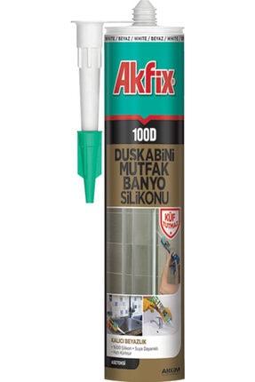 Akfix 100d Beyaz Küf Tutmaz Duşakabin Silikonu 310 ml
