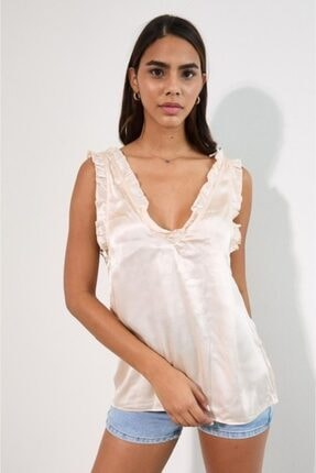 Zara Women Saten Bluz