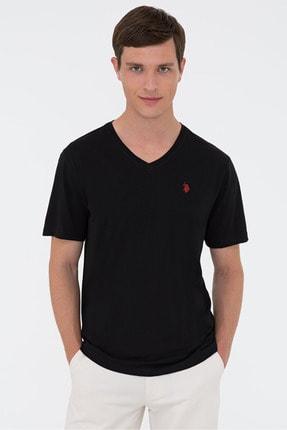U.S. Polo Assn. Erkek Siyah V Yaka Basıc T-shırt 1191440 Gts
