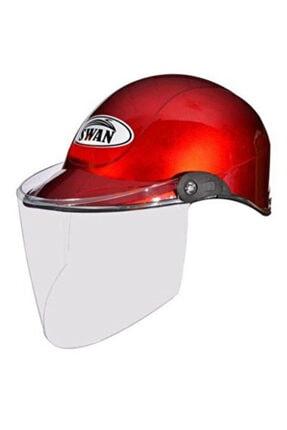 KNT Jokey Tipi Yarım Yazlık Motosiklet Kaskı Camlı Kırmızı