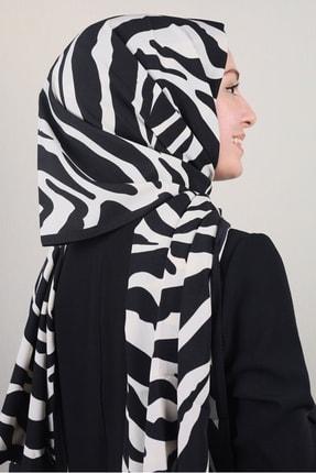 Modakaşmir Moda Kaşmir Beyaz-siyah Serisi Medine Ipeği Şal - Desen-03 - Renk-09