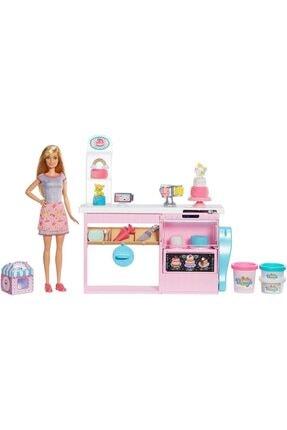 Cici Oyuncak Pasta Dükkanı Oyun Seti Mutfak Tezgahı Oyun Hamuru Oyuncak Barbie Bebek
