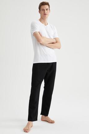 DeFacto Erkek Siyah Regular Fit Basic Pijama Alt