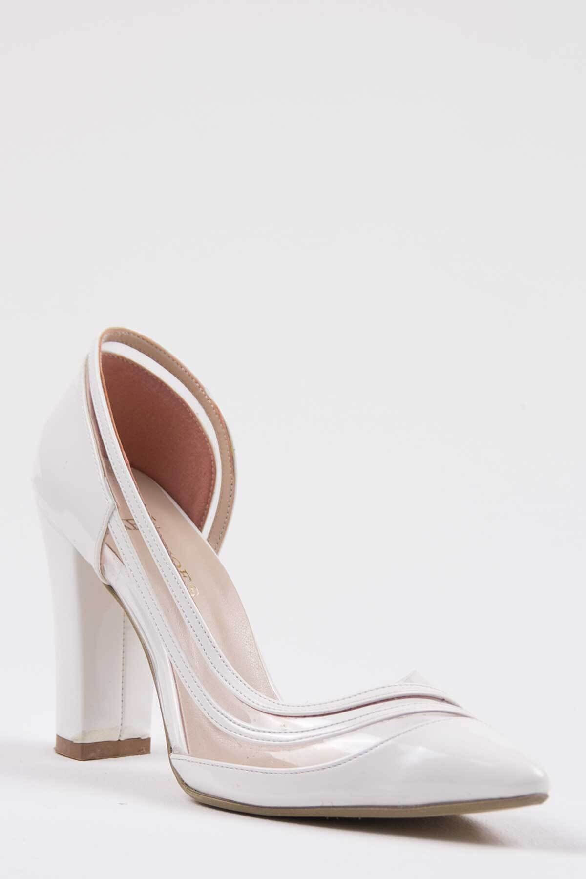 Oioi Beyaz Kadın Topuklu Ayakkabı 1010-119-0001_1003 2