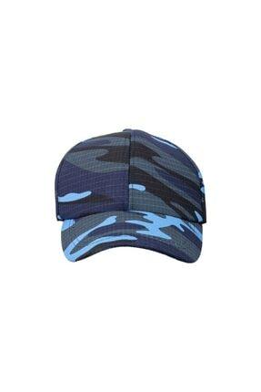 Safari Mavi Kamuflaj Şapka